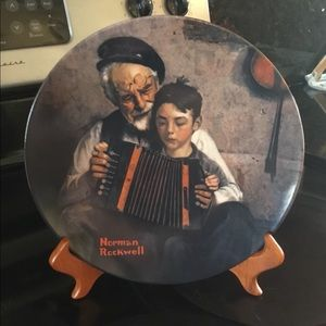 "Vintage Norman Rockwell "" The Music Maker""  Plate"